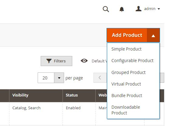 أنواع المنتجات (Product Types) على متجر ماجنتو 2