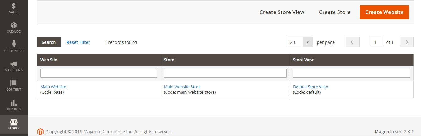 إنشاء واجهة متجر جديدة New store view على متجر ماجنتو 2