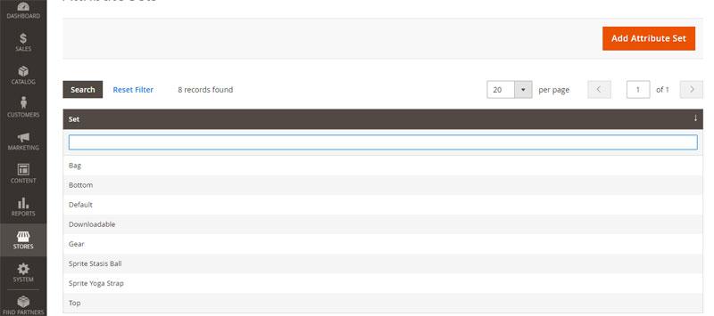 إضافة مجموعة السمات Attribute Sets على متجر ماجنتو 2