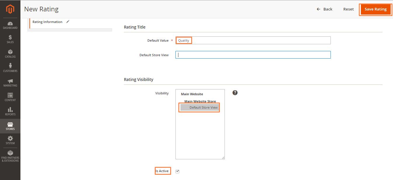 إضافة تقييم Rating على صفحة منتج على ماجنتو 2