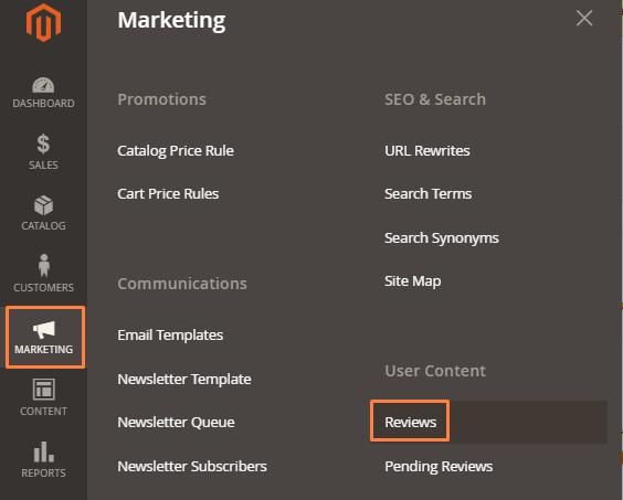 إدارة مراجعات العملاء Customer Reviews على متجر ماجنتو 2