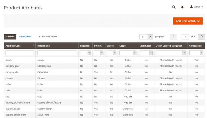 إضافة سمات المنتج Product attribute في متجر ماجنتو 2