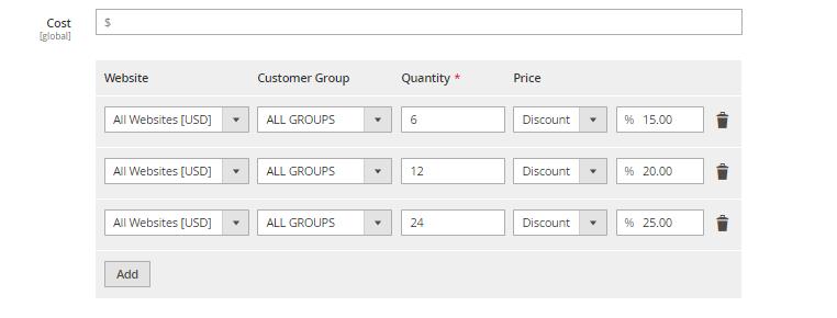 إضافة Tier price لمنتج على متجر ماجنتو 2