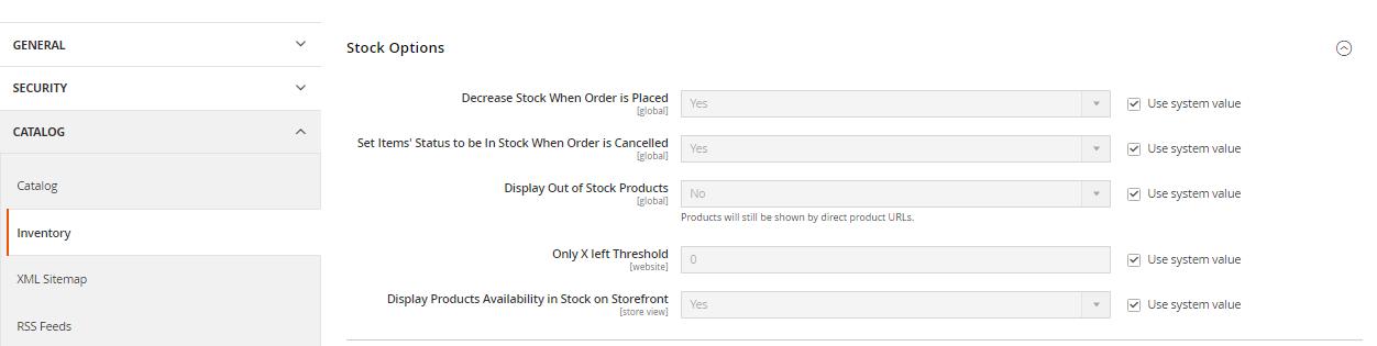 إظهار / تعطيل منتج out of stock على متجر ماجنتو 2