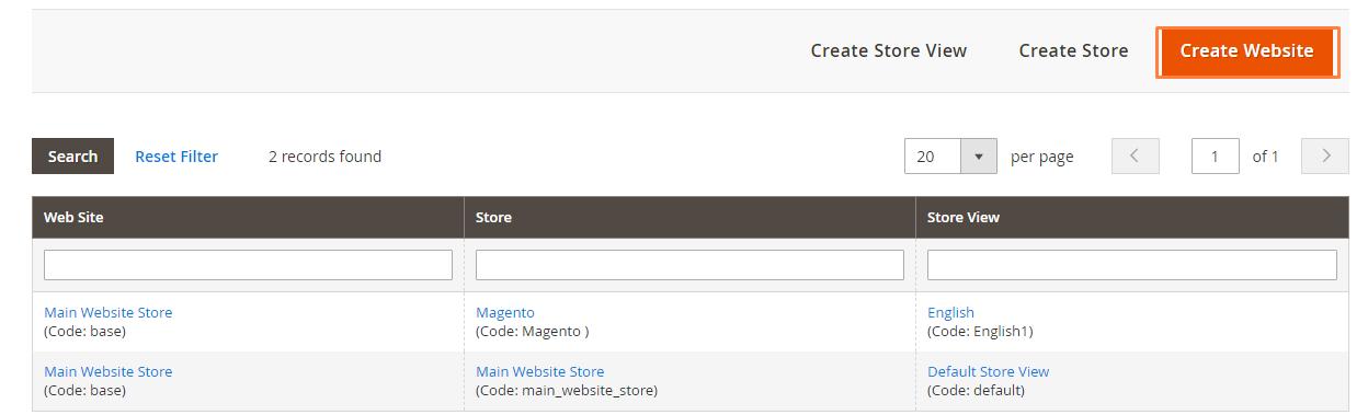 إنشاء مواقع ويب متعددة Multiple Websites على ماجنتو 2