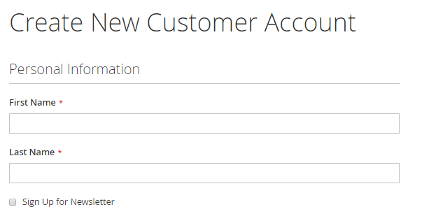 إنشاء حساب عميل Customer Account على متجر ماجنتو 2