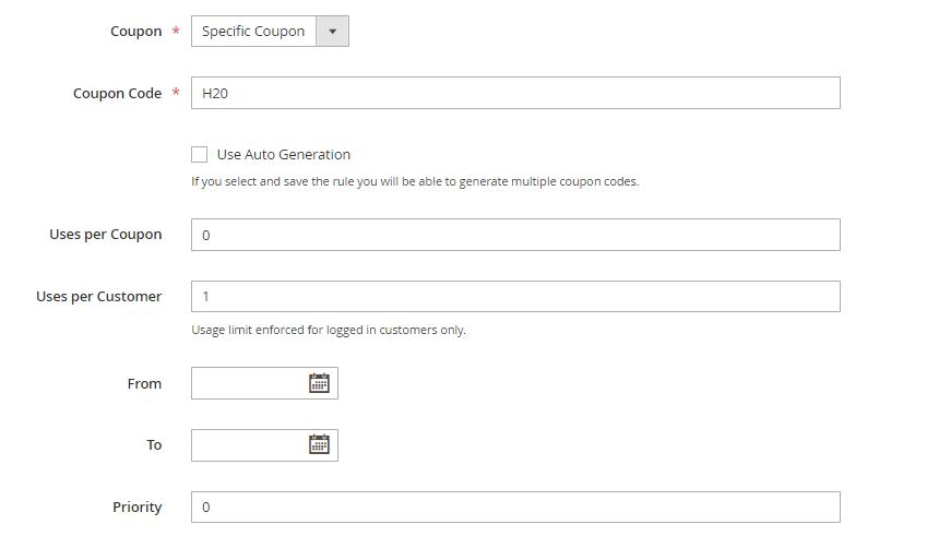 خطوات إنشاء Specific Coupon على متجر ماجنتو 2