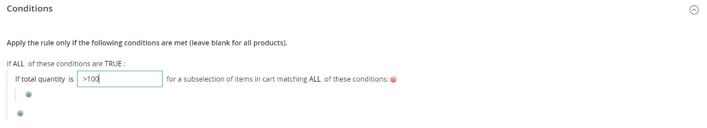 شروط قاعدة الاسعار price rule condition على ماجنتو2