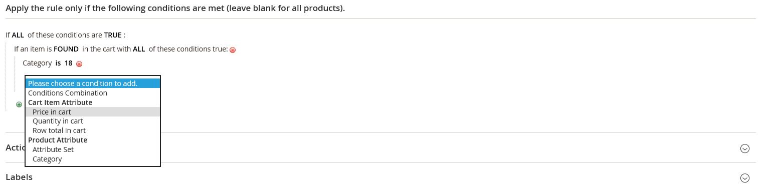 شروط إضافة خصم على حد أدنى من المشتريات على متجر ماجنتو 2