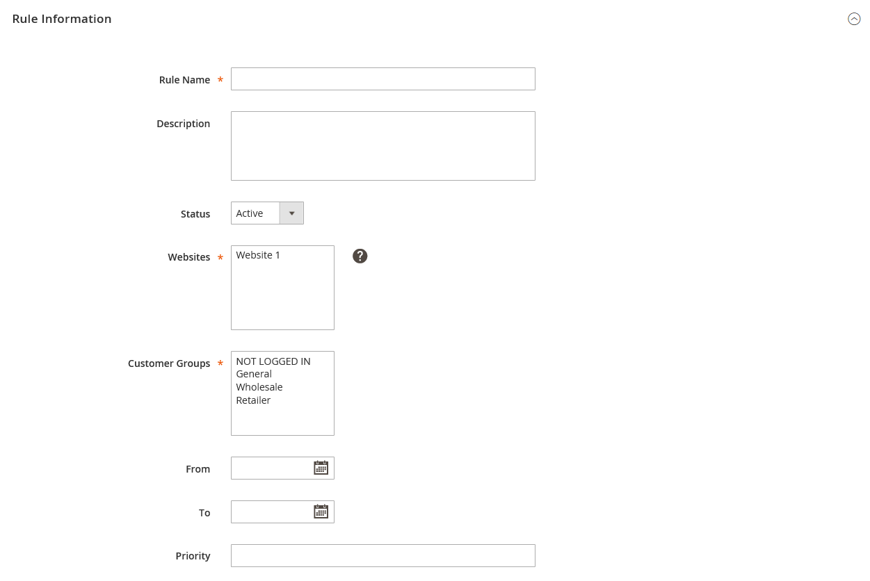 إنشاء Catalog price rule على ماجنتو 2