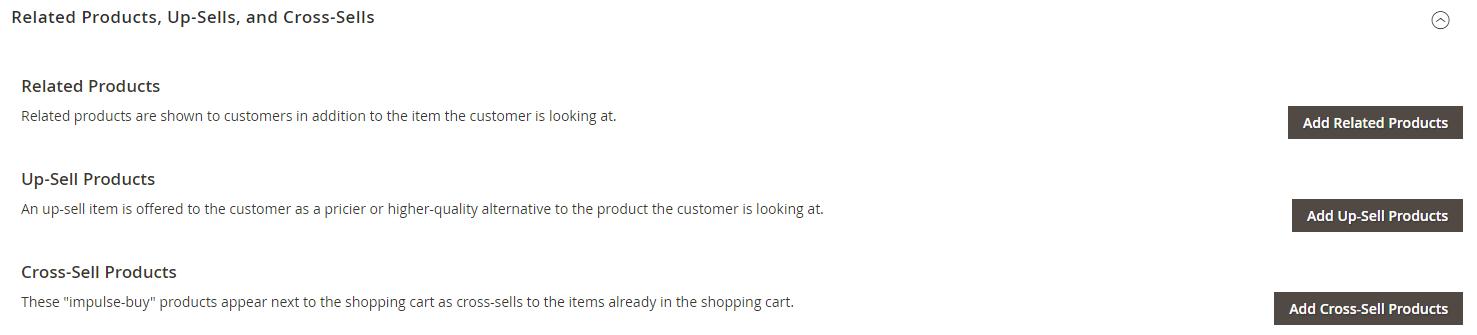 إضافة منتجات Cross-sells على متجر ماجنتو 2