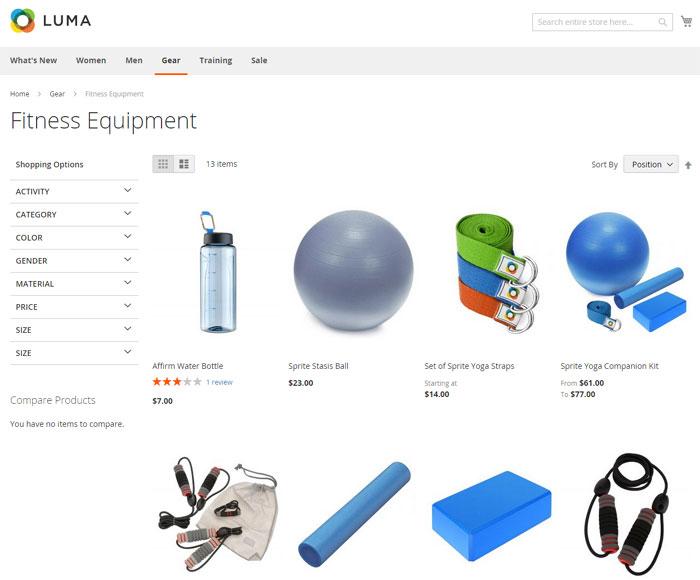 إنشاء قوائم المنتجات Product Listings على متجر ماجنتو 2