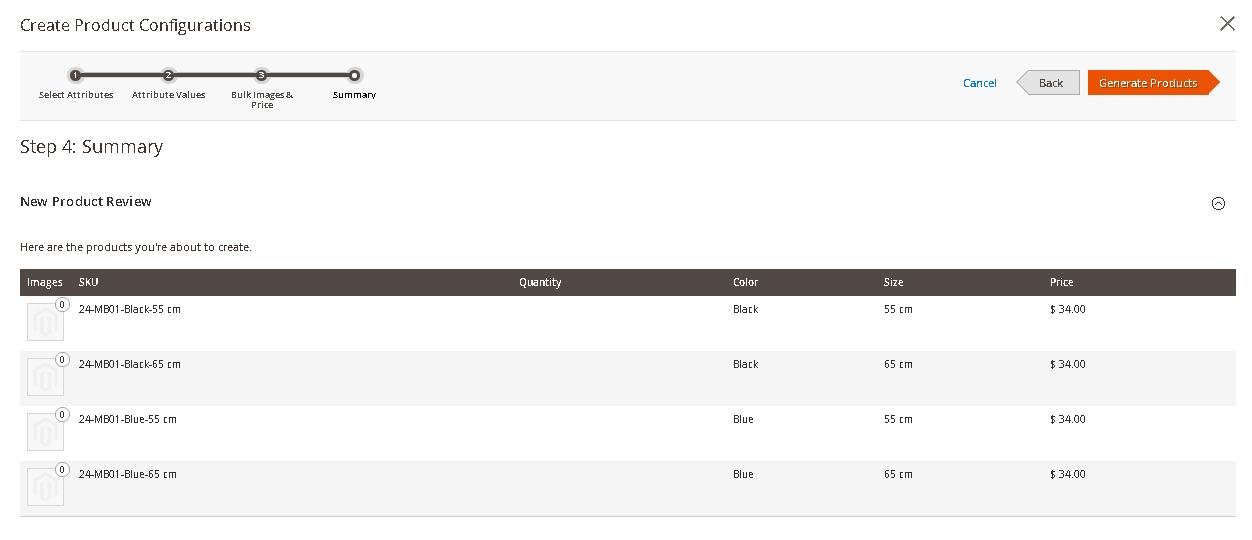 خطوات إضافة خيار جديد إلى منتج Configurable Product على ماجنتو2