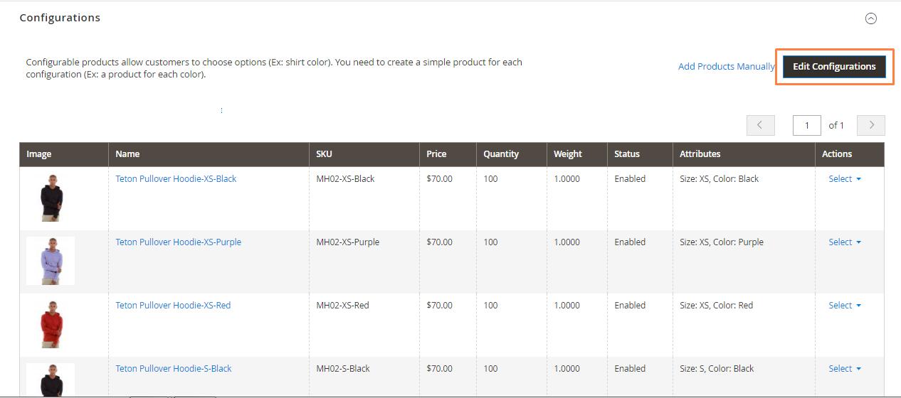 إضافة خيار جديد إلى منتج Configurable Product على ماجنتو2
