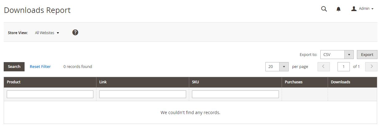 تقارير المنتجات Products Reports على متجر ماجنتو 2