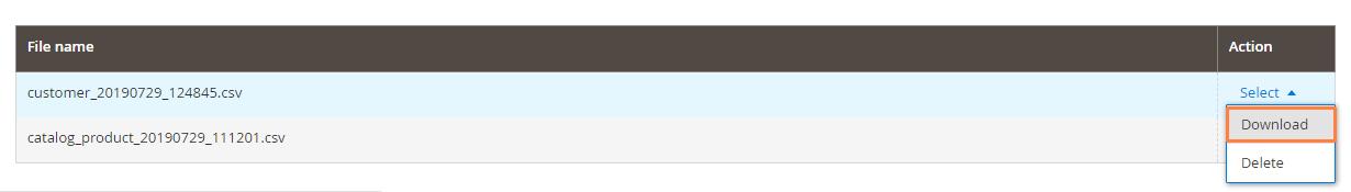 تصدير بيانات المنتجات (Export Products) على ماجنتو 2