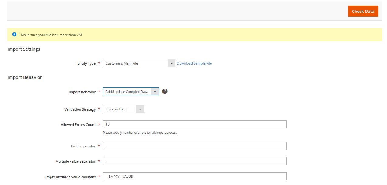تصدير / استيراد (Export/Import) بيانات العملاء على ماجنتو 2