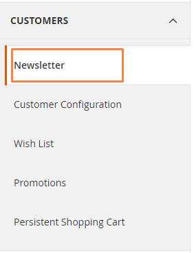 """إعداد نشرة بريدية """"Newsletters"""" لمتجرك على ماجنتو 2"""