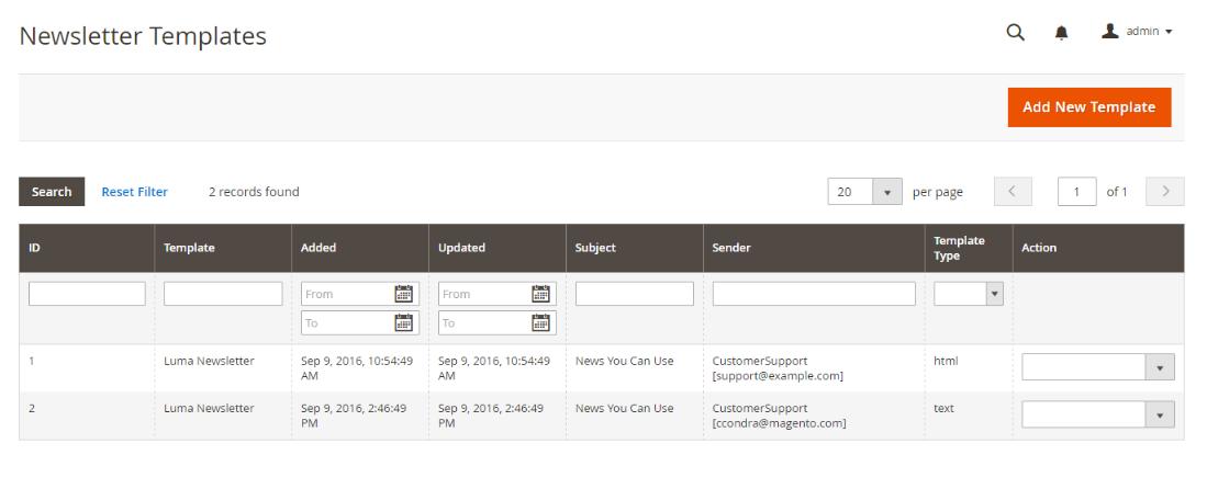 إرسال النشرة البريدية للعملاء Sending Newsletter على ماجنتو 2