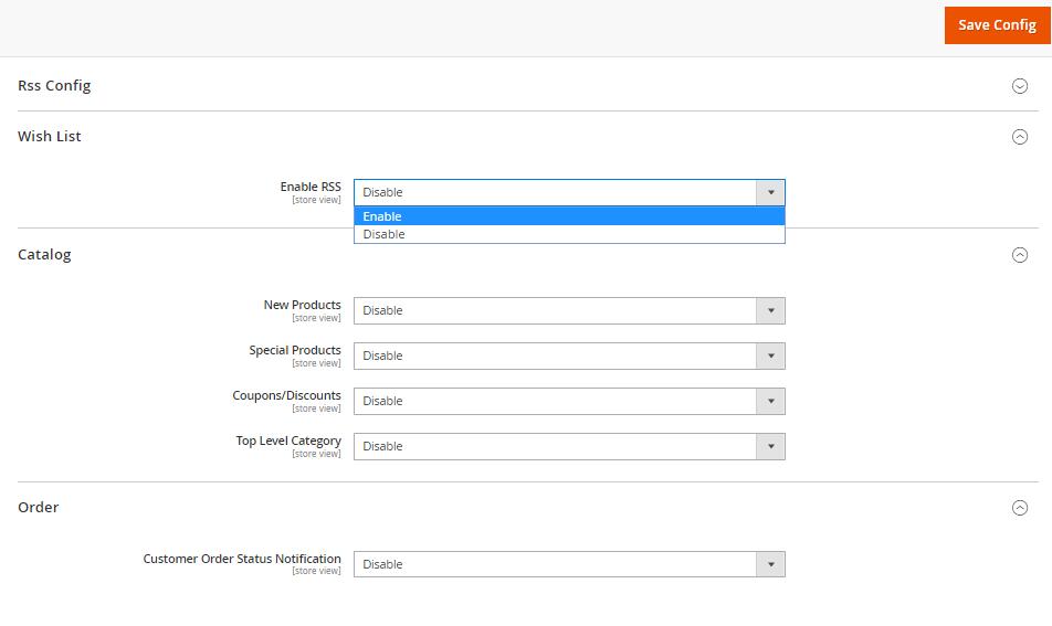 تهيئة إعدادات RSS Feeds لمتجرك على ماجنتو 2