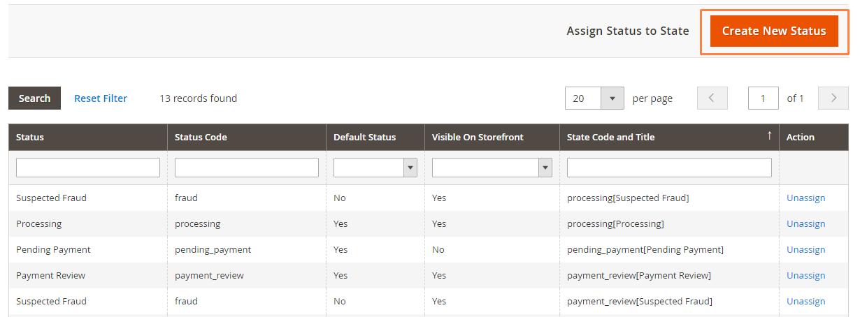 إنشاء حالة طلب جديدة New Order Status على متجر ماجنتو 2