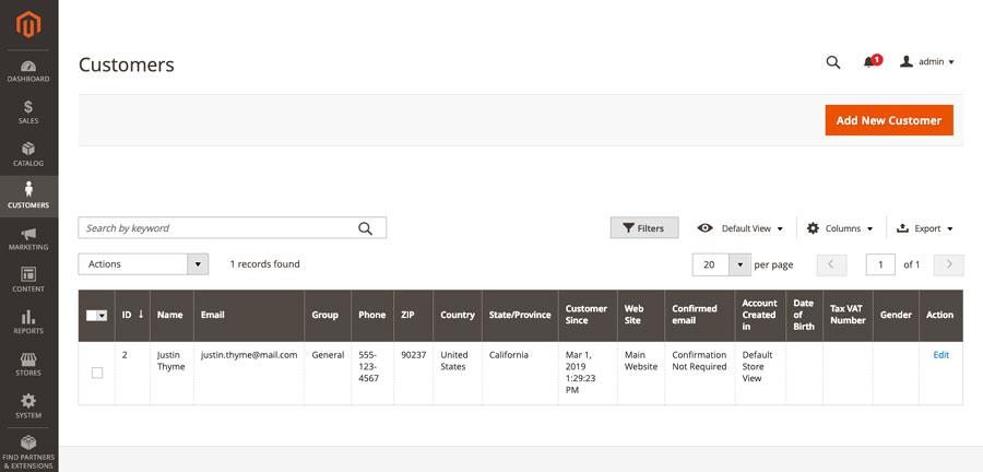 """إنشاء حساب عميل""""Customer Account"""" بواسطة مشرف المتجرAdmin على ماجنتو 2"""