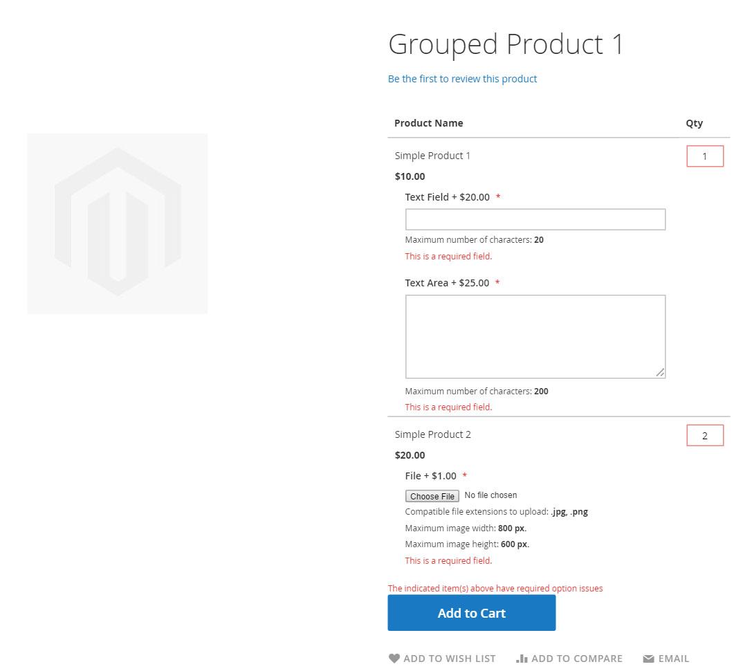 إضافة خيارات مخصصة Custom Options لمنتج على ماجنتو 2