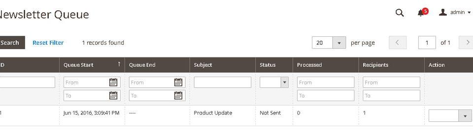 إرسال النشرة البريدية (Newsletter) للعملاء على ماجنتو 2