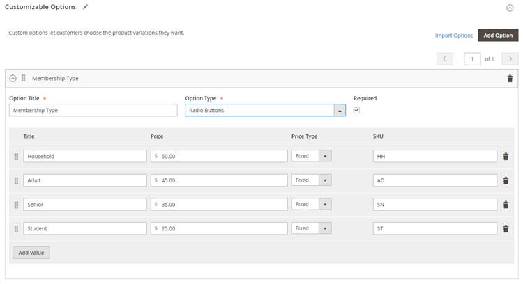 استيراد الخيارات المخصصة ( Import Customizable Options) لمنتج على ماجنتو 2