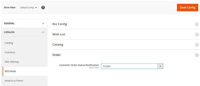 تفعيل إشعارات حالات الطلبات Order Status Notification على ماجنتو 2