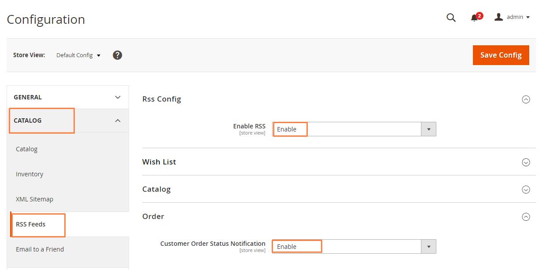 تفعيل إشعارات حالات الطلبات (Order Status Notification) على ماجنتو 2