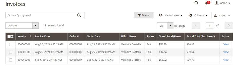 إنشاء / إعداد فاتورة لطلب شراء Creat an Invoice على ماجنتو 2