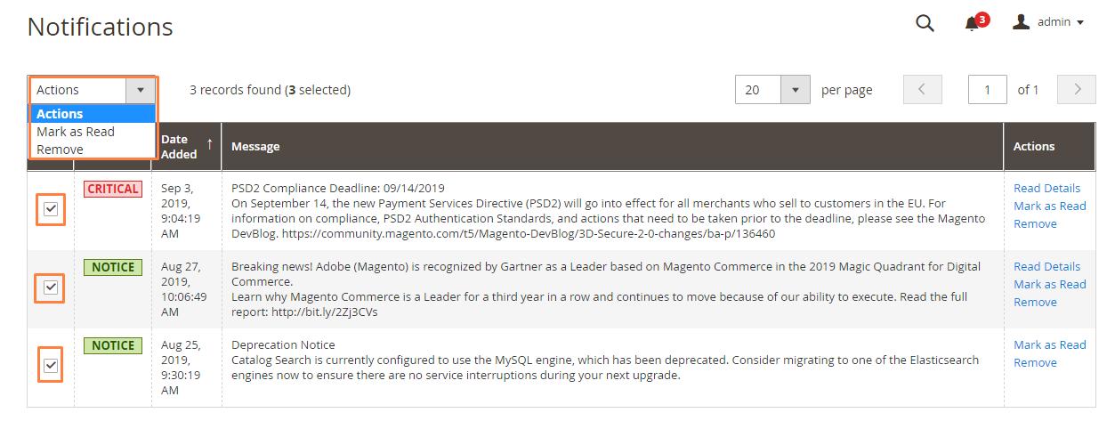 إدارة رسائل البريد الوارد (Message Inbox) فى ماجنتو 2