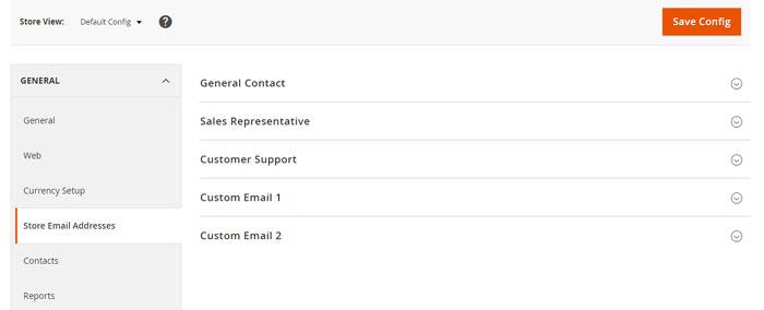 إعداد عناوين بريد المتجر الإلكترونى (Store Email Addresses) على ماجنتو 2