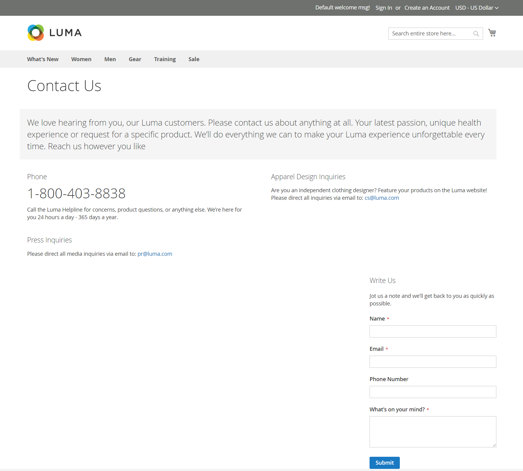 إعداد صفحة اتصل بنا (Contact Us) لمتجر على ماجنتو 2