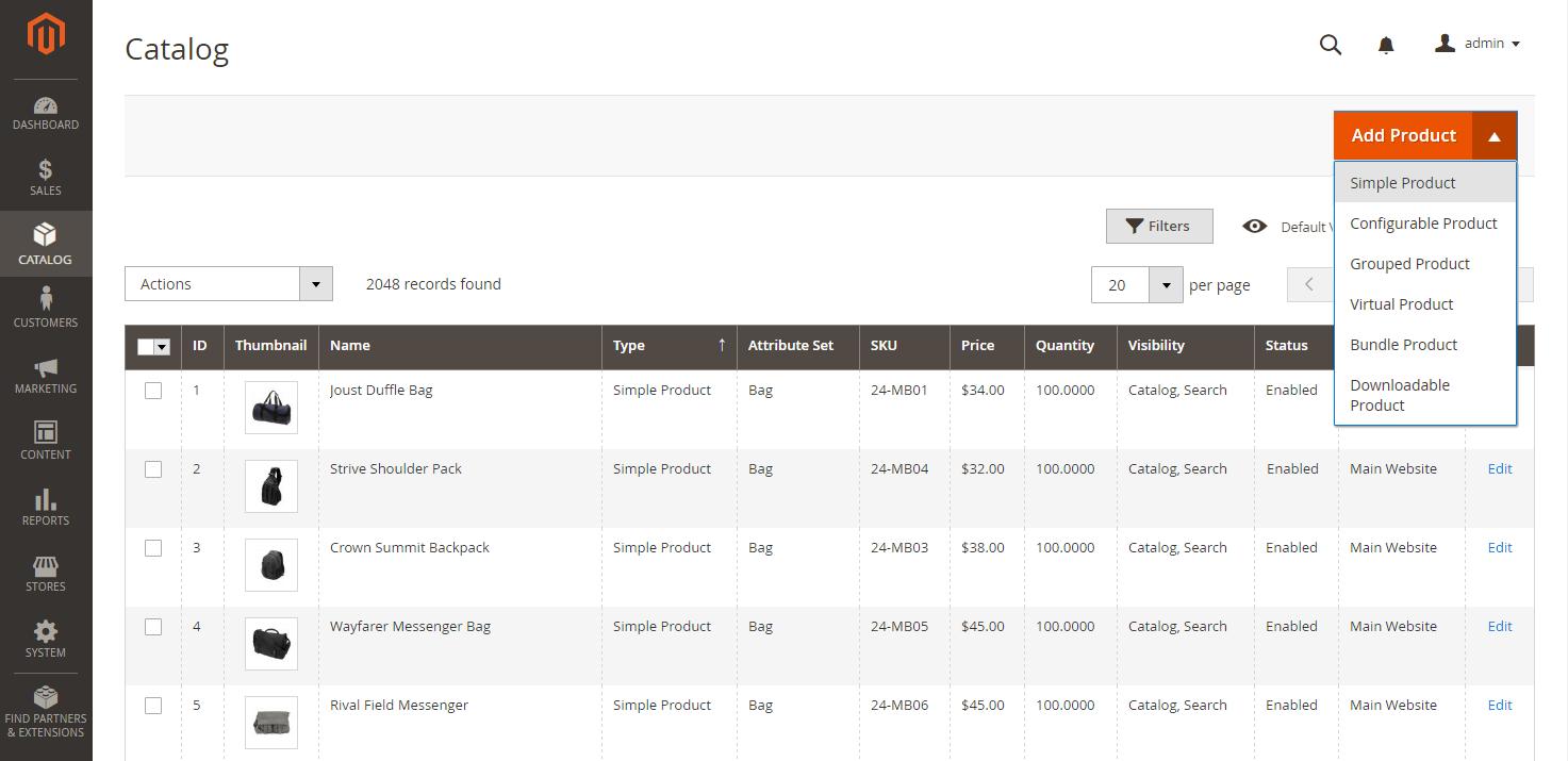أضافة أو إنشاء منتج بسيط simple product على متجر ماجنتو 2