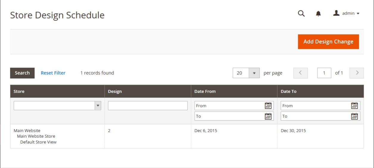 جدولة تغييرات التصميم (Scheduling Design Changes) لصفحات ماجنتو 2