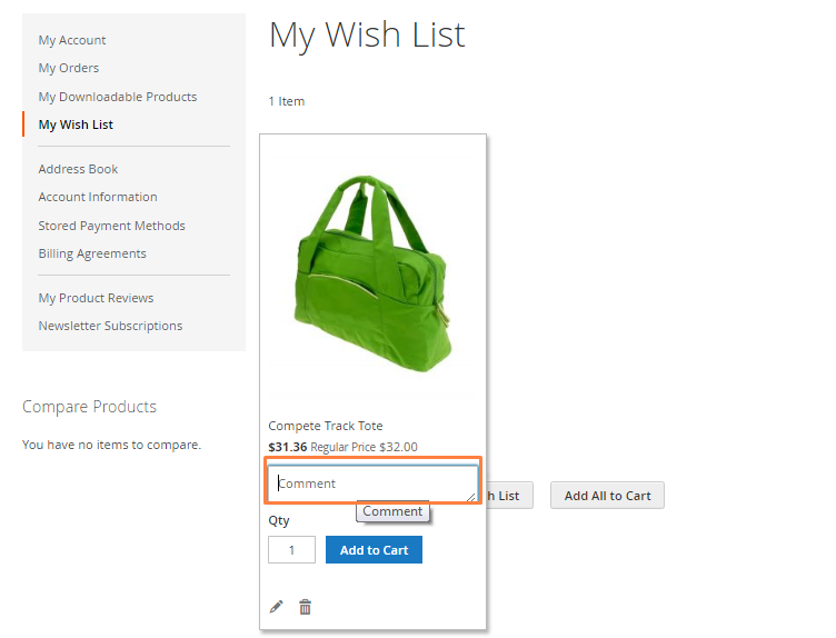 مشاركة قائمة الرغبات Share WishList فى متجر ماجنتو 2