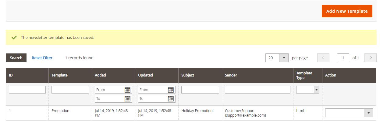 إنشاء قالب نشرة بريدية Newsletter Template لمتجرك على ماجنتو 2