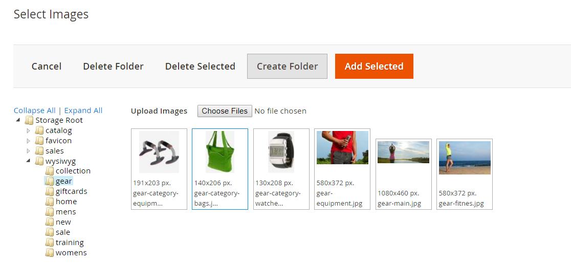 إدراج صور (Insert Images) على متجر ماجنتو 2