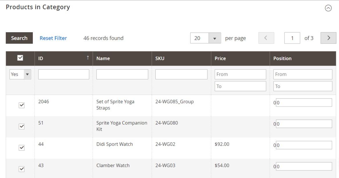 إضافة / حذف منتج Product من فئة Category على ماجنتو 2