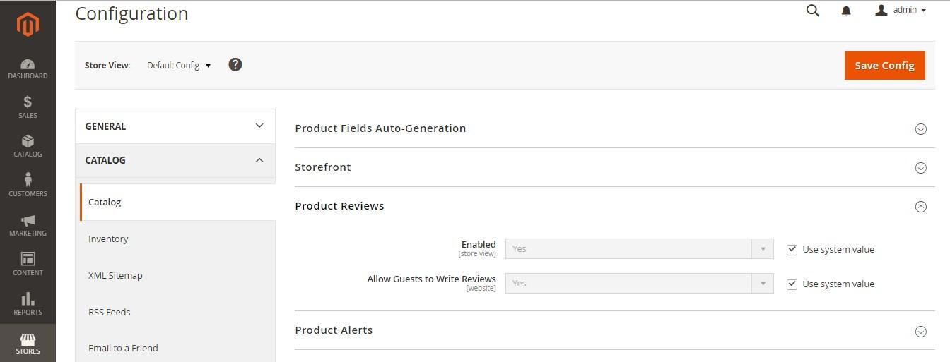 تفعيل مراجعات المنتج Product Reviews على ماجنتو 2