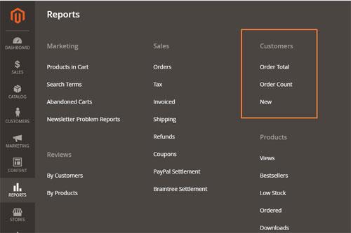 تقارير العملاء Customer Reports فى متجر ماجنتو 2