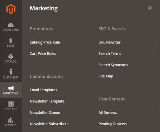 أدوات التسويق (Marketing Tools) فى متجر ماجنتو 2
