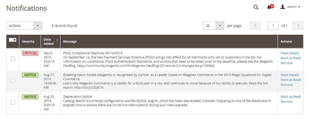 إدارة رسائل البريد الوارد (Inbox Messages) فى متجر ماجنتو 2