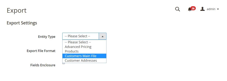 تصدير/استيراد بيانات العملاء Import/Export Customer Data فى ماجنتو 2