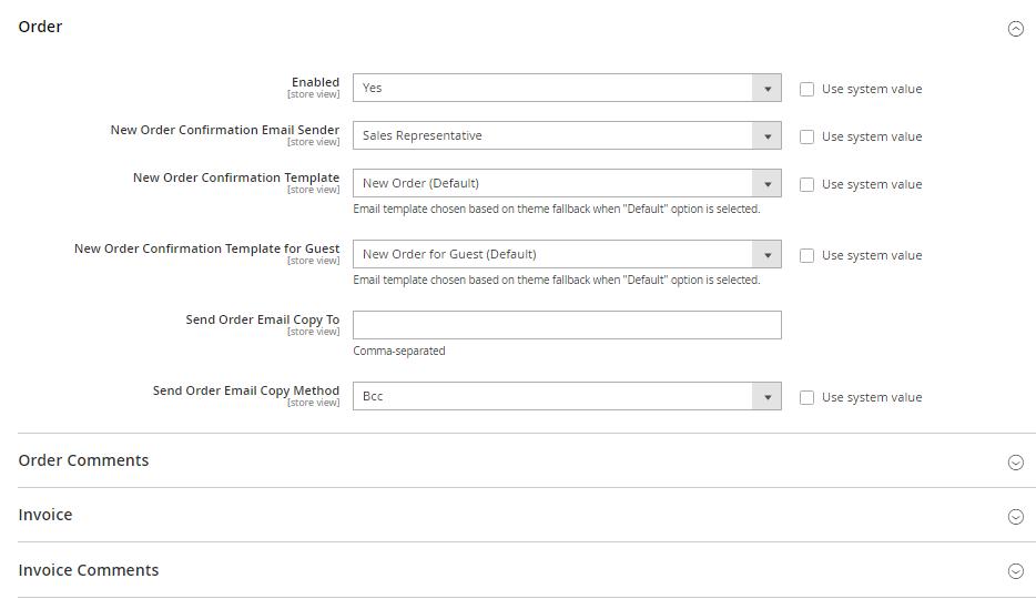 تكوين / إعداد عناوين البريد الالكترونى لمتجرك (Store Email Addresses) فى ماجنتو 2