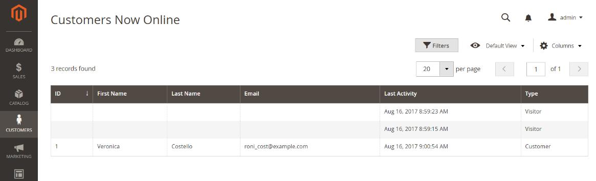 العملاء المتصلين بمتجرك (Customer Now Online) على ماجنتو 2