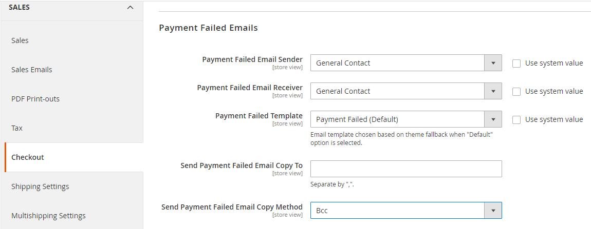 إعداد إيميل فشل عملية الدفع (Payment Failed Email) على ماجنتو 2