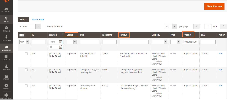 إدارة مراجعات العملاء Cusyomer Reviews فى متجر ماجنتو 2